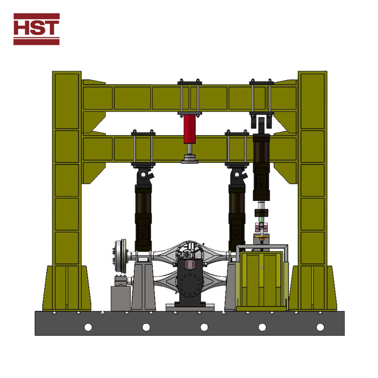 Electro-hydraulic servo axle housing bending test system HST-PWT500